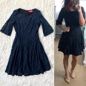 Betsey Johnson Navy Lace Dress